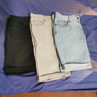 Penshoppe & Bench Shorts (3 for 400)