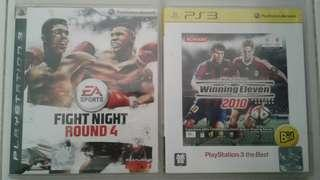 PS3 2 GAMES FOR $8 :FIGHT NIGHT ROUND 4 & WINNING ELEVEN 2010