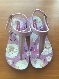 Caribbean purple sandals