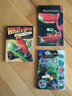 3x Rainforest Books