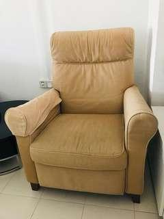 🚚 Recliner Chair( Light brown)