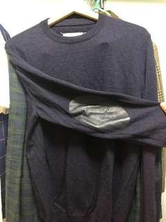 Maison margiela patched wool sweater
