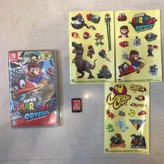 Switch Mario Odyssey 連3張特別版貼紙