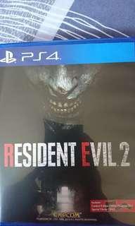 🚚 Resident Evil 2 remake PS4
