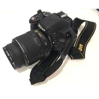 Nikon DSLR D5100 Full Set (Body, Len, Battery & Charger, Camera Stand, Remote Control, Cleaning Brush, Flashlight, Camera Bag)