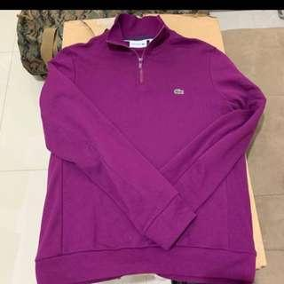 Authentic lacoste new in condition 3/4 zip sweater