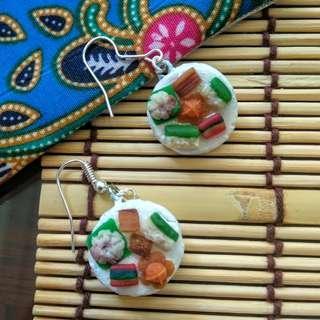 🚚 Handnade Nonya Kueh Clay Earrings