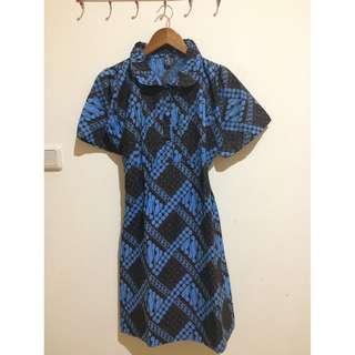 Dress Batik Navy