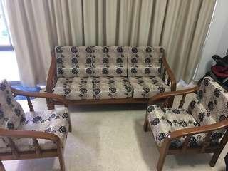 Teak wooden sofa