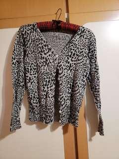 豹紋灰色外套