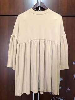 🚚 夢幻風卡其短洋裝
