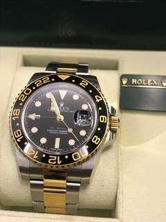 Rolex GMT 2 half gold - 116713LN (Lowered to 14K)