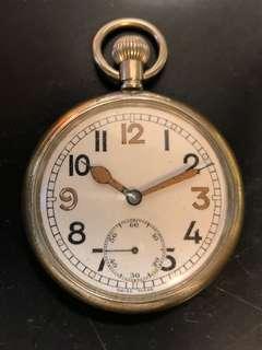 古董英國二戰軍錶British GSTP WWII Military Pocket Watch