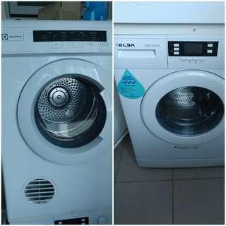 Washing Machine and Dryer combo Elba EWF 1073A Front load Washing Machine (7Kg) & Electrolux edv6051 6kg dryer