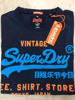 🚚 Superdry tee t-shirt in navy blue
