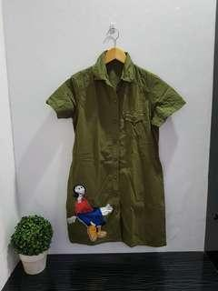 7014 dress army olive popeye