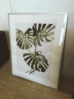Monstera Plant Wall Art Frame