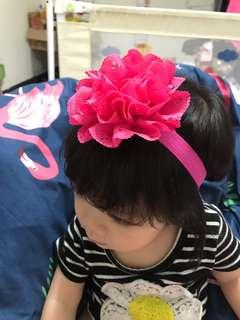 🚚 大花裝飾嬰兒花朵髮帶