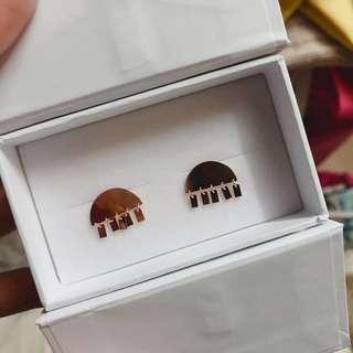 Wow fashion (HK Brand香港自家品牌) 玫瑰金耳環