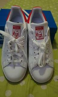 Never Worn Before Adidas Stan Smith Red Shoes