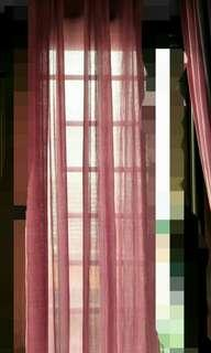 Pair of Day Curtains Cotton Linen