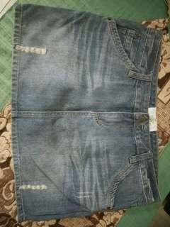 Gaudy rok jeans pendek