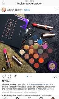 🚚 Colourpop Eyeshadow Palette - Perception