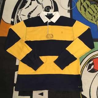 Vintage 古著 ralphlauren 條紋 polo長t