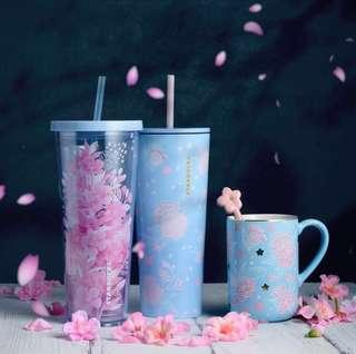 Starbucks Sakura Night Bloom Cold Cup and Mug