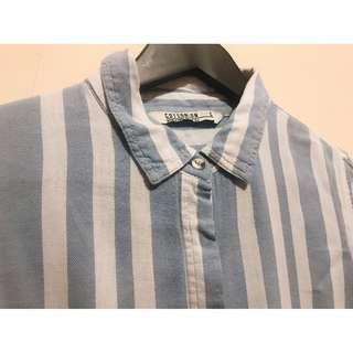 Light Blue-and-white Stripes Shirt