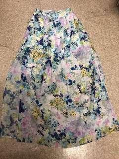 Forever New floral sheer skirt