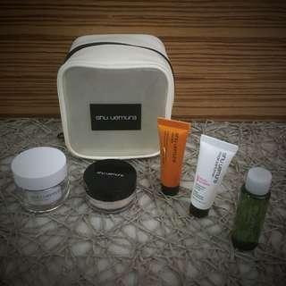 BN Brand New TANGS Beauty Box Shu Uemura Face Faves Make Up Skin Care Cosmetic Pouch
