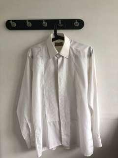 🚚 Vintage 70's White Button Up Shirt