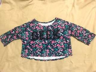 GEEK FLORAL CROP TOP