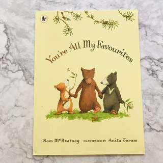 You're All My Favourites - Picture book about sibling rivalry