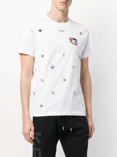 LN Kenzo Multi Icons T-shirt Size XL in White