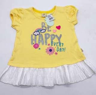 NEW WITH TAG SALE 50% NETT - little m yellow tops SIZE M