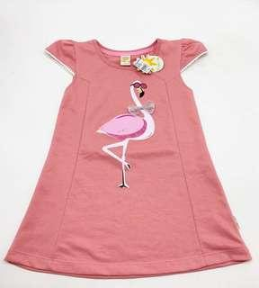 NEW WITH TAG SALE 50% - flamingo dress little M size S