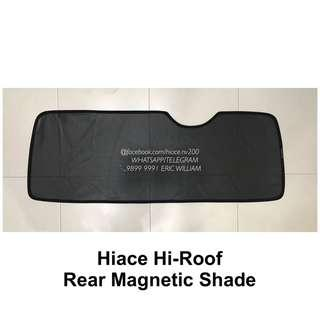 Toyota Hiace High Roof Commuter Passenger Bus Rear Magnetic Sun Shade /Hi Roof Accessories >>READY STOCKS!!