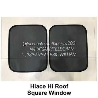 Toyota Hiace Hi-Roof Square Window Magnetic Sun Shade / Hi Roof Accessories