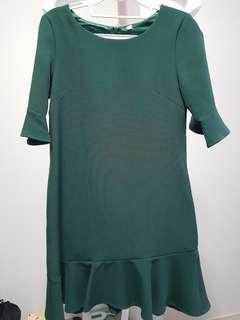 [SALE] LAB Ruffles Dress in Green