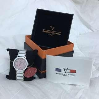 保證正品 近全新 范倫鐵諾 Valentino 玫瑰金錶面精密陶瓷氣質女錶