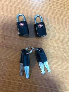 🚚 Travel Mini Luggage Padlocks (x2 sets)