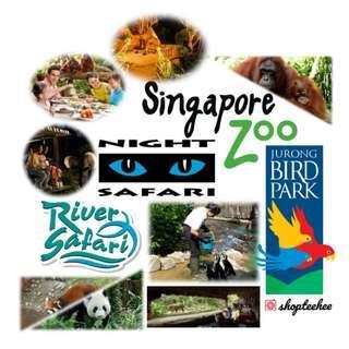 Singapore Zoo + Tram ride [E-ticket]