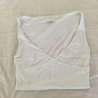 Kookai White Crop Top Size 1