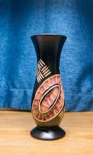 尼泊爾手工木花瓶