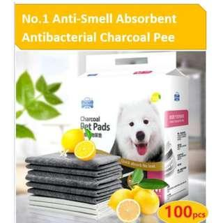 🚚 Anti-Smell Absorbent Antibacterial Charcoal Pee Pad(Dogs Cats Training Diaper)