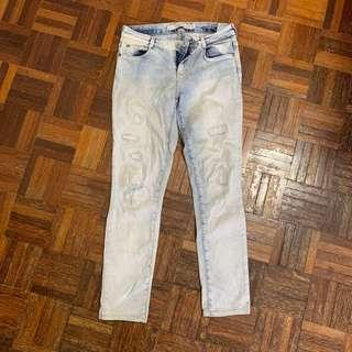 Zara Ribbed Skinny Jeans