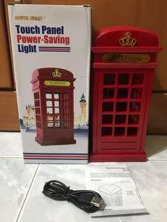 London Telephone Booth Touch Panel Power-Saving Light
