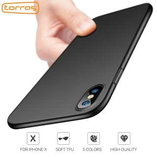 Iphone X/XS Casing (Free Tempered Glass) Matte Black